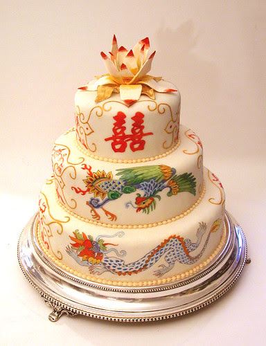 painted wedding cake 4