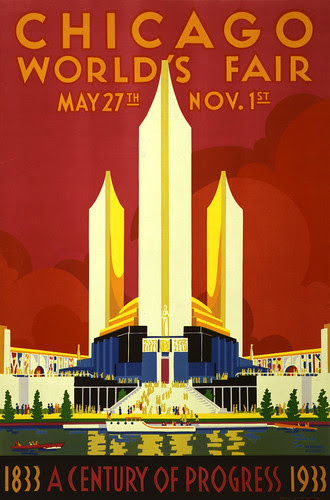 Chicago world's fair, a century of progress, expo poster, 1933