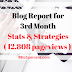 3rd Month Blog Report - Stats and Strategies (12,808 pageviews) - 99to1percent