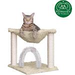 FurHaven Pet Cat Furniture   Tiger Tough Plush Cat Hammock (Cream)