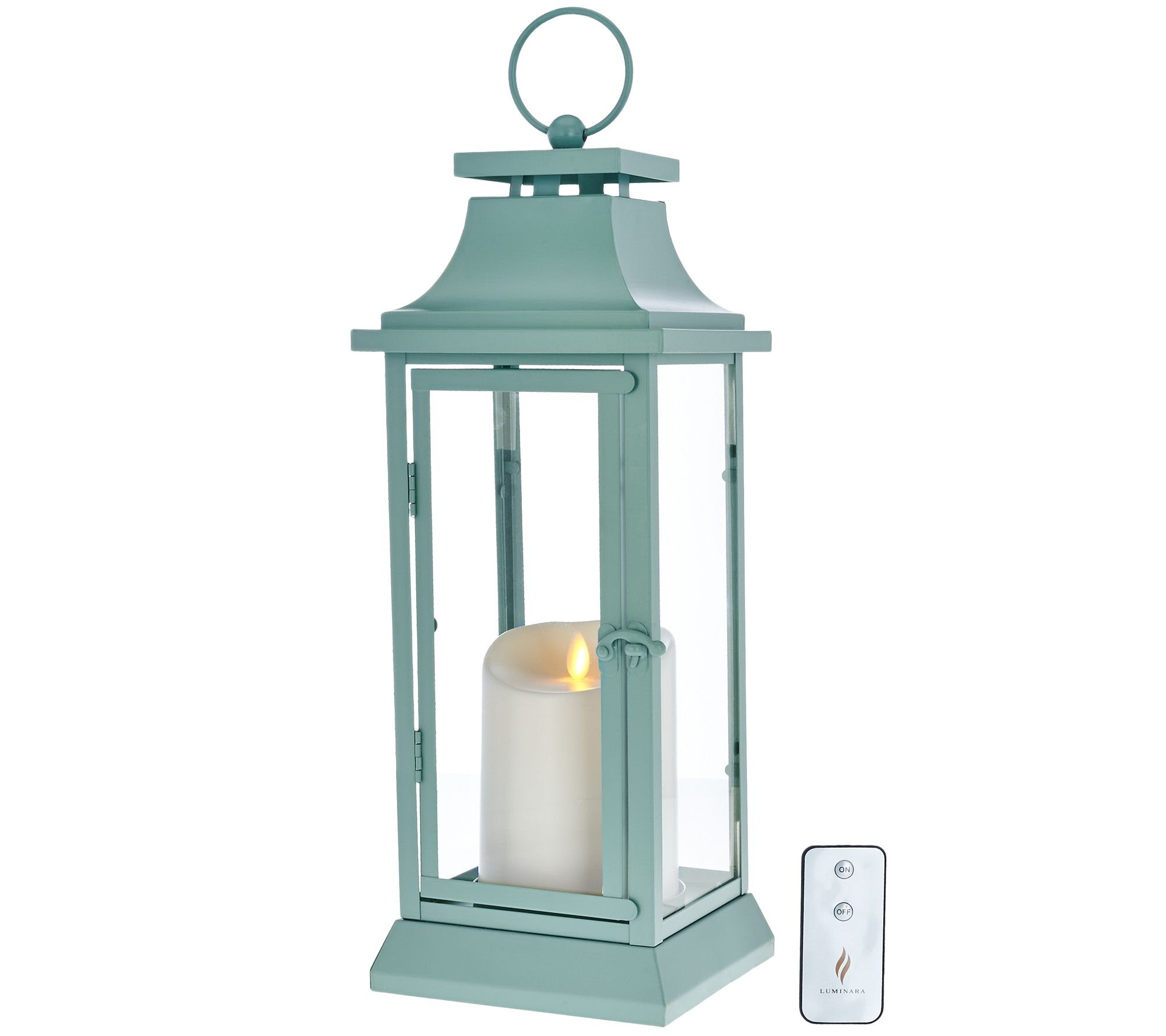 "Luminara 16"" Heritage Indoor Outdoor Lantern with ..."