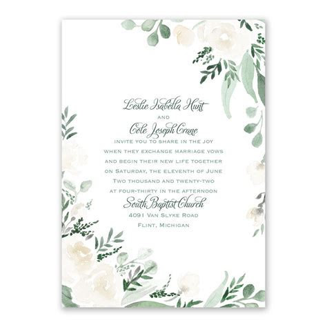 Painted Garden Wedding Invitation   Ann's Bridal Bargains