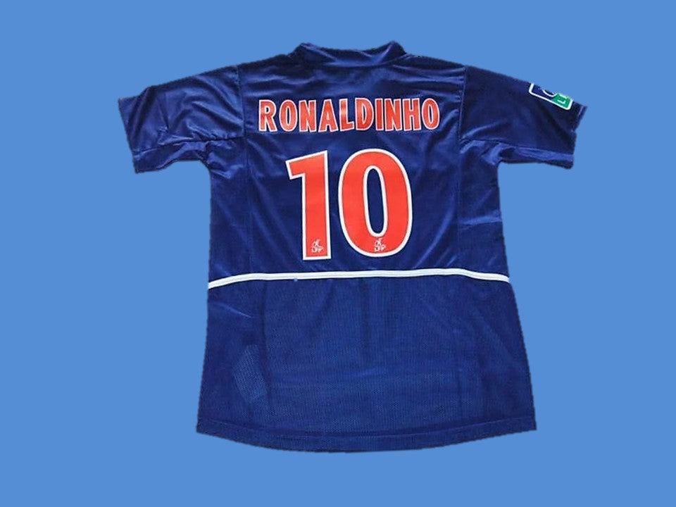 Paris Saint Germain Psg 2002 Ronaldinho 10 Home Jersey Vintage Jerseys