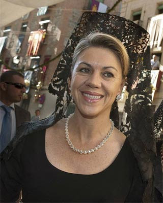 La presidenta de Castilla-La Mancha y número dos del PP, María Dolores de Cospedal.