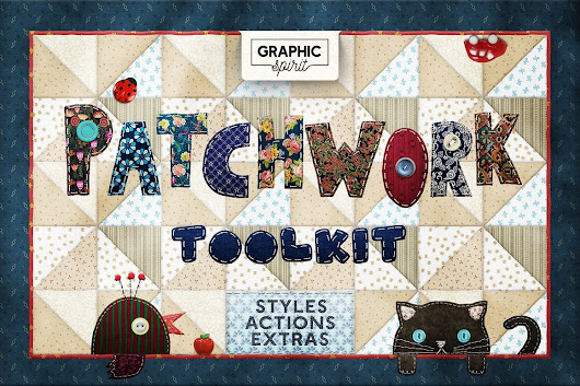 Photoshop TOOLKIT: PATCHWORK Effect - $19 ONLY - Master Bundles