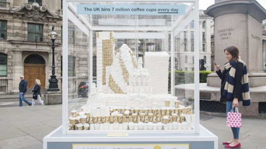 Coffee cup recycling scheme launched in City of London - BBC News