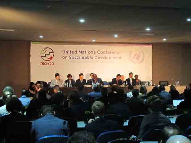 Secretário-geral da ONU para a Rio+20, Sha Zukang, abre oficialmente a conferência. (Foto: Giovana Sanchez/G1)