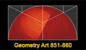 Online Geometric Art: Geometry Problems 851-860: Square, Semicircle, Quadrant, Arc, Perpendicular, Metric Relations.