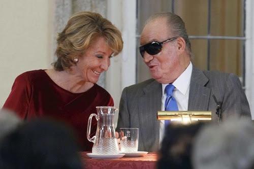 El rey con Esperanza Aguirre