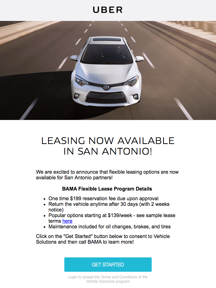 Uber Lease Car >> Car Leasing App