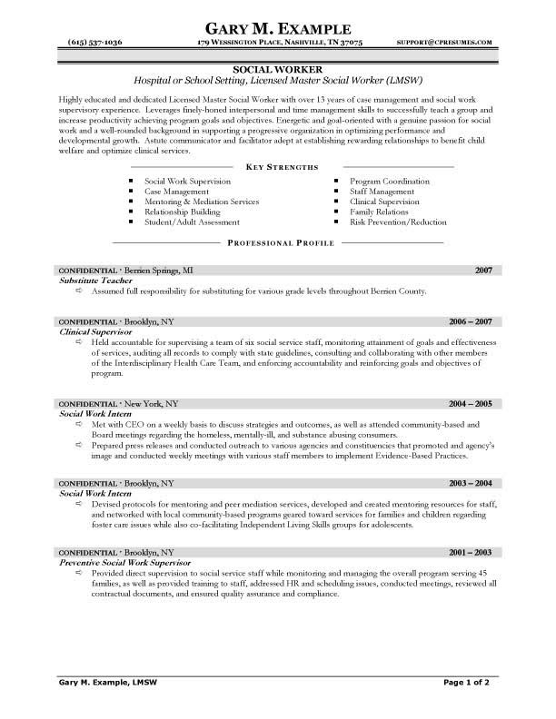 Social Work Resume Objective Statement  SampleBusinessResume.com : SampleBusinessResume.com