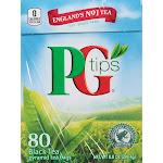 PG Tips Black Tea - 80 count, 8.8 oz box