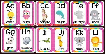 Abecedario Animales formato tarjetas potada