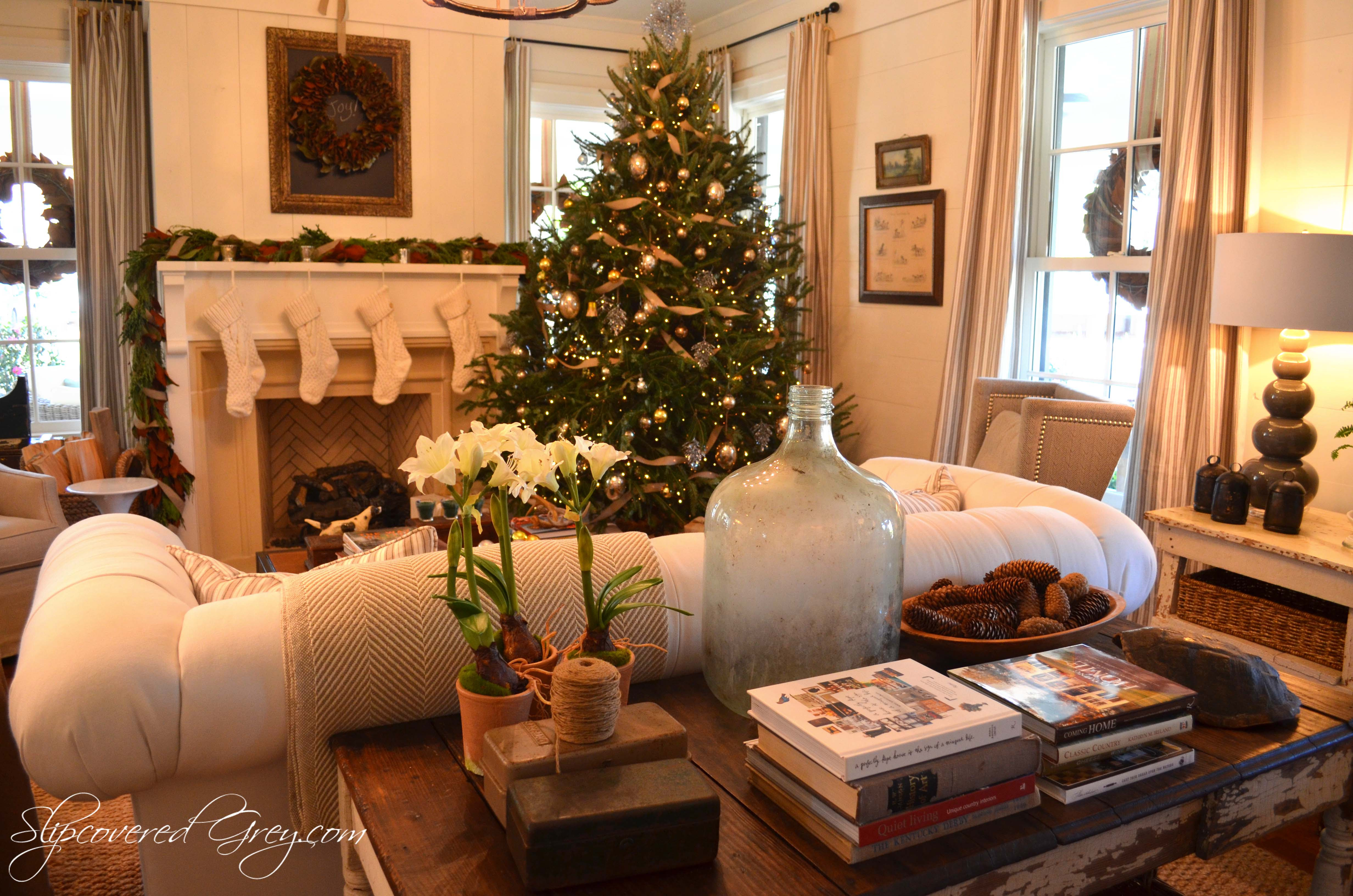Southern Living Idea House 2012 Christmas Slipcovered Grey