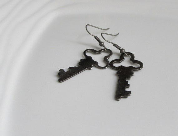 Decorative Key Earrings