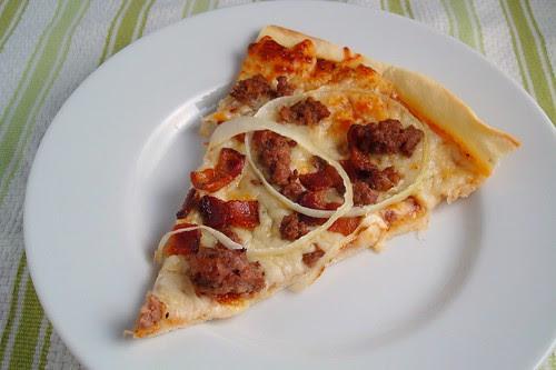 Cheeseburger Pizza Slice