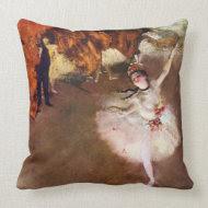 Prima Ballerina; Rosita Mauri, The Star by Degas throwpillow