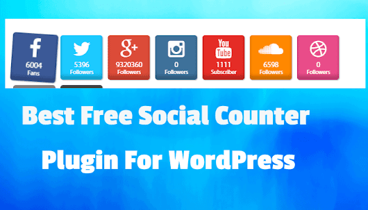 Best Free Social Counter Plugin For WordPress - WP Doze