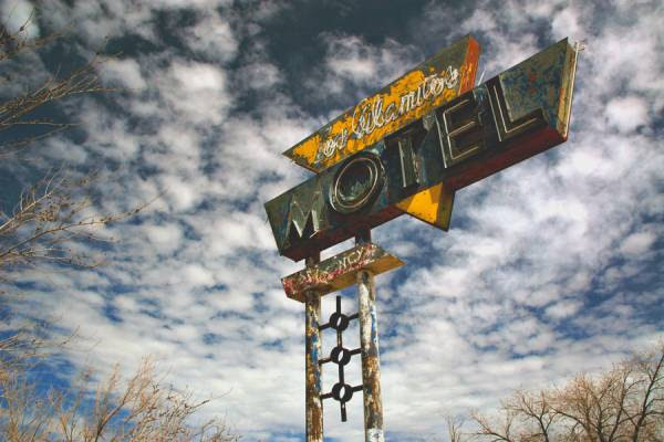 Route 66-Placa de Motel