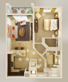 Sketsa Rumah Minimalis 1 Kamar