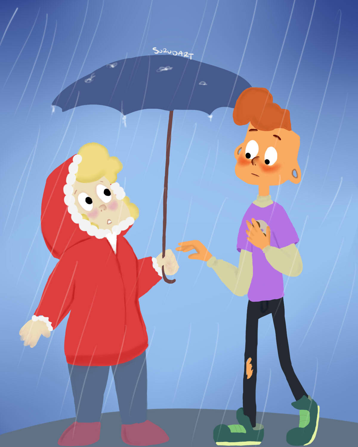 sharing an umbrella with your boyfriend I love Sadie and Lars