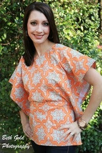 Image of Miss Mod Top Women's sewing pattern