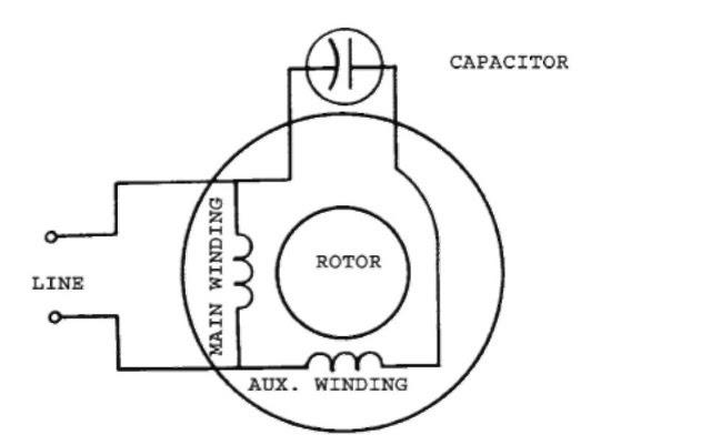 Ac Motor Run Capacitor Wiring Diagram : Diagram Ac Motor