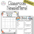 Classroom Newsletter Templates - EDITABLE - (Aug. - Oct.)