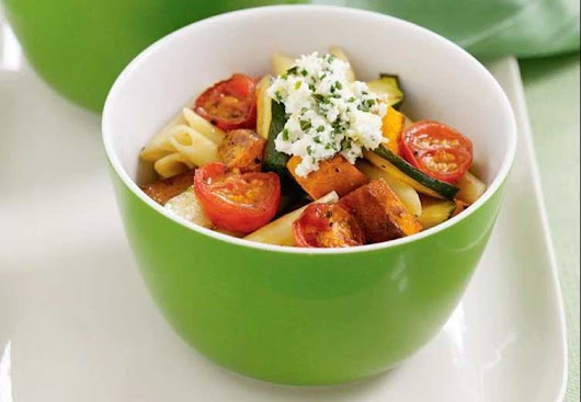 How to Make Penne with roast vegetables & herbed ricotta