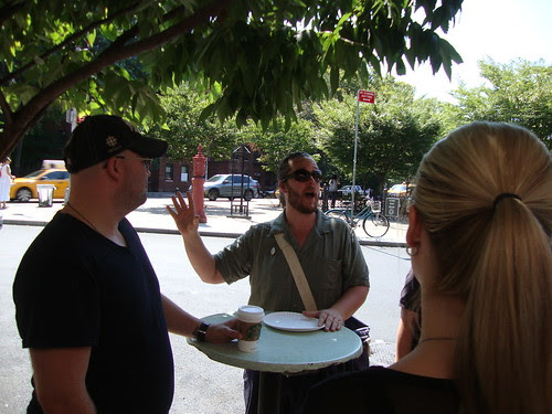 our tour guide Bert at Joe's Pizza