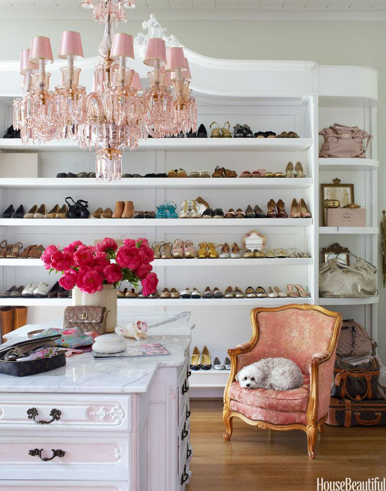 Walk In French Style Closet Shoe Organization Shelf Shelving Hacks