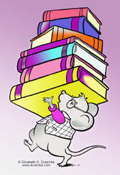 Coloring page tuesday library mouse for Library mouse coloring page