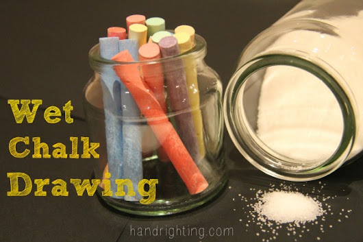 Wet Chalk Drawing - Handrighting