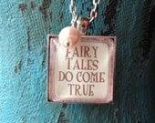 Fairy Tale Glass Necklace- Fairy Tales Do Come True
