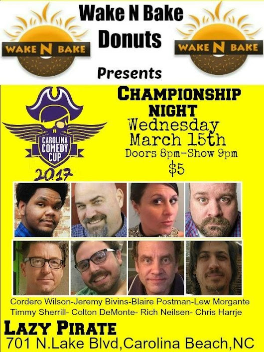 Carolina Comedy Cup Finals starts March 15, 2017 at 08:00PM
