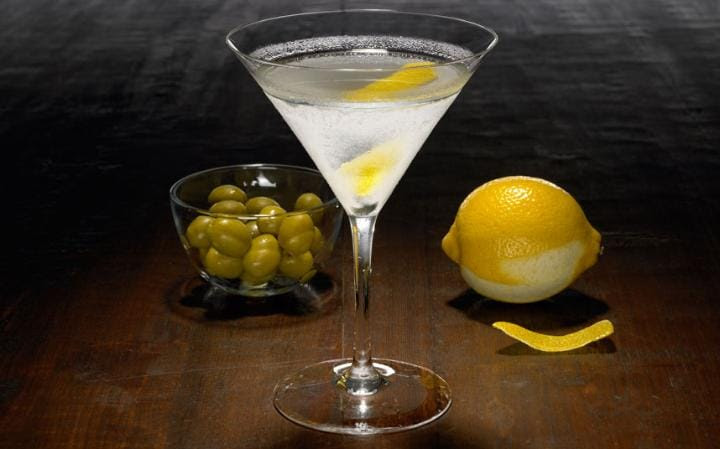 Iconic: the martini, a favourite tipple of James Bond