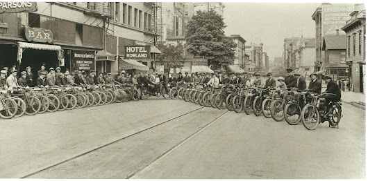Motorcycle Club on 4th Street, c1912