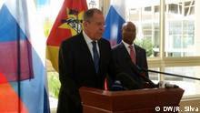 Russland und Mosambik verstärken Kooperation, Pacheco und Lavror in eine Presskonferenz in Maputo