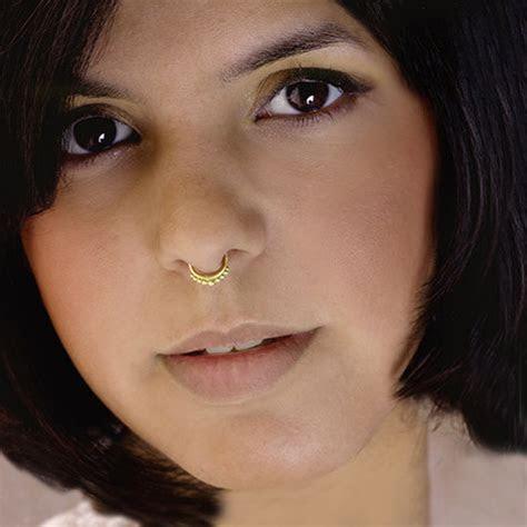 Unique Brass Septum For Non Pierced Nose   Body Jewelry