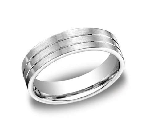 Mens White Gold Wedding Band CF66334   Chicago Engagement
