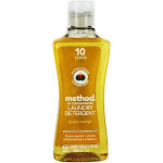 Method Laundry Detergent 4x Concentrated 10 HE Loads Tough On Dirt Stains Ginger Mango 8.1 fl oz