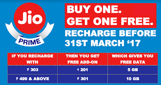 Reliance Jio Prime Offer *New* - Get 120 GB Free Data: Learn How