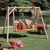Rustic Cedar 4-Foot Garden Swing Kit