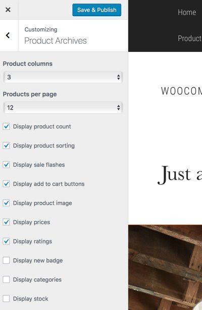Change Number of WooCommerce Products Per Row and Page
