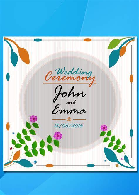 wedding card psd templates