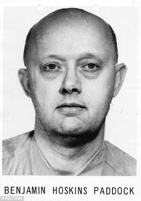 Paddock's father, Benjamin, was a serial bank robbery who ended up on the FBI's most wanted list back in 1969