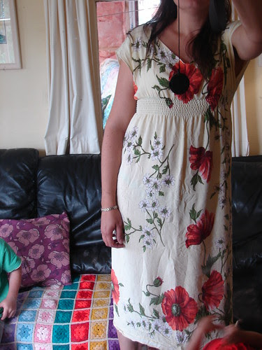 Dress from a tablecloth