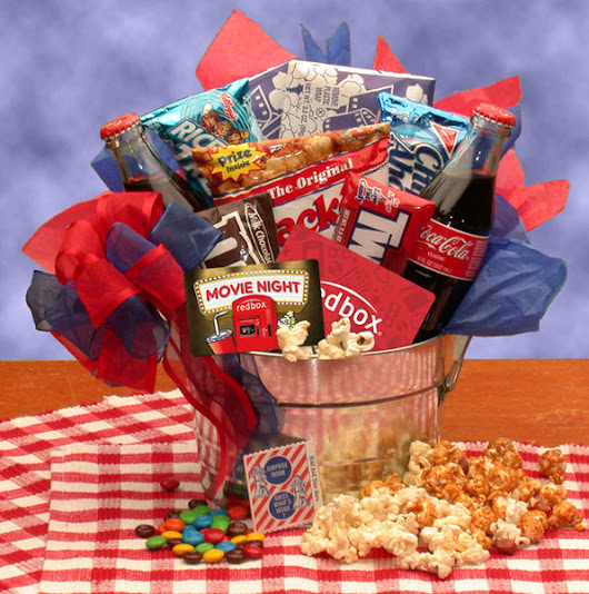 All Time Blockbuster Redbox Movie Gift Basket