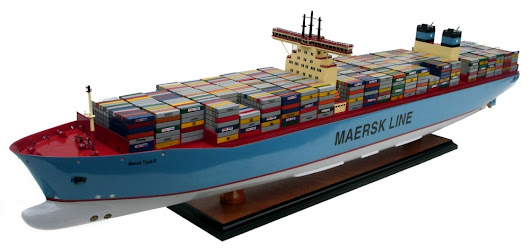 Maersk Container Ship Model