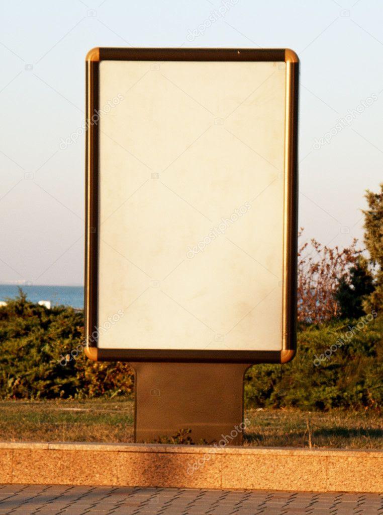 Vertical blank billboard — Stock Photo © Silver_sky2212 #5196744
